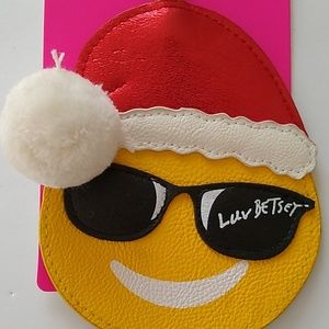Betsey Johnson Bags - Betsey Johnson emoji luggage tag new with tags